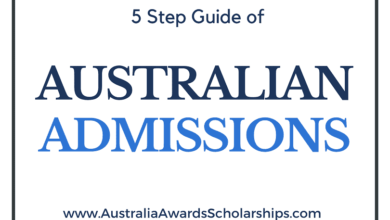 5 STEPS TO APPLY FOR ADMISSION IN AUSTRALIA