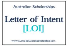 Letter of Intent (LOI) for Australian Scholarships